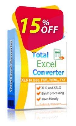 Coolutils Total Excel Converter - Server License  Coupon, discount 15% OFF Coolutils Total Excel Converter (Server License), verified. Promotion: Dreaded discounts code of Coolutils Total Excel Converter (Server License), tested & approved