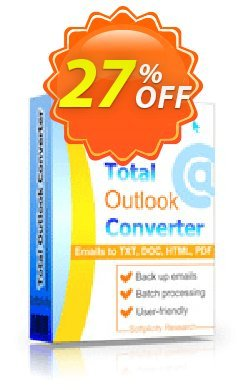Coolutils Total Outlook Converter - Commercial License  Coupon discount 27% OFF Coolutils Total Outlook Converter (Commercial License), verified. Promotion: Dreaded discounts code of Coolutils Total Outlook Converter (Commercial License), tested & approved