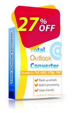 Coolutils Total Outlook Converter - Server License  Coupon discount 27% OFF Coolutils Total Outlook Converter (Server License), verified - Dreaded discounts code of Coolutils Total Outlook Converter (Server License), tested & approved