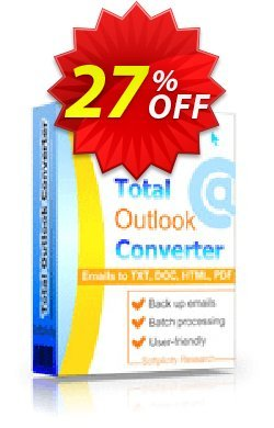 Coolutils Total Outlook Converter - Site License  Coupon discount 27% OFF Coolutils Total Outlook Converter (Site License), verified - Dreaded discounts code of Coolutils Total Outlook Converter (Site License), tested & approved