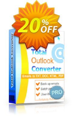 Coolutils Total Outlook Converter Pro - Commercial License  Coupon discount 20% OFF Coolutils Total Outlook Converter Pro (Commercial License), verified - Dreaded discounts code of Coolutils Total Outlook Converter Pro (Commercial License), tested & approved