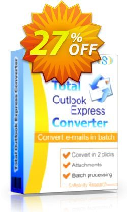 Coolutils Total Outlook Express Converter - Commercial License  Coupon, discount 27% OFF Coolutils Total Outlook Express Converter (Commercial License), verified. Promotion: Dreaded discounts code of Coolutils Total Outlook Express Converter (Commercial License), tested & approved