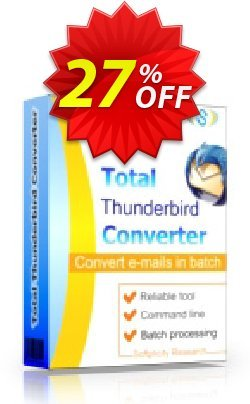 Coolutils Total Thunderbird Converter - Commercial License  Coupon discount 27% OFF Coolutils Total Thunderbird Converter (Commercial License), verified - Dreaded discounts code of Coolutils Total Thunderbird Converter (Commercial License), tested & approved