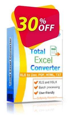 Coolutils Total Excel Converter - Commercial License  Coupon, discount 30% OFF Coolutils Total Excel Converter (Commercial License), verified. Promotion: Dreaded discounts code of Coolutils Total Excel Converter (Commercial License), tested & approved
