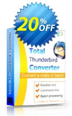 Coolutils Total Thunderbird Converter Pro - Commercial License  Coupon discount 20% OFF Coolutils Total Thunderbird Converter Pro (Commercial License), verified - Dreaded discounts code of Coolutils Total Thunderbird Converter Pro (Commercial License), tested & approved