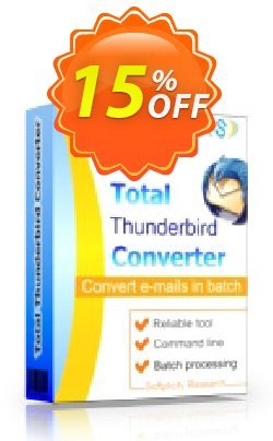 Coolutils Total Thunderbird Converter Pro - Site License  Coupon discount 15% OFF Coolutils Total Thunderbird Converter Pro (Site License), verified - Dreaded discounts code of Coolutils Total Thunderbird Converter Pro (Site License), tested & approved