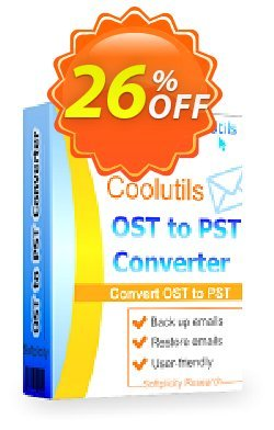 Coolutils OST to PST Converter - Commercial License  Coupon, discount 15% OFF Coolutils OST to PST Converter, verified. Promotion: Dreaded discounts code of Coolutils OST to PST Converter, tested & approved