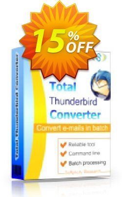 Coolutils Total Thunderbird Converter - Site License  Coupon discount 15% OFF Coolutils Total Thunderbird Converter (Site License), verified - Dreaded discounts code of Coolutils Total Thunderbird Converter (Site License), tested & approved