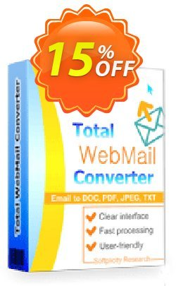 Coolutils Total Webmail Converter - Site License  Coupon, discount 15% OFF Coolutils Total Webmail Converter (Site License), verified. Promotion: Dreaded discounts code of Coolutils Total Webmail Converter (Site License), tested & approved
