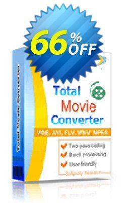 Total Movie Converter Coupon, discount 30% OFF JoyceSoft. Promotion: