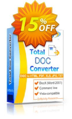 Total Doc Converter Coupon, discount 30% OFF JoyceSoft. Promotion:
