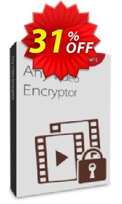 Any Video Encryptor 1 PC/1 Year Coupon, discount Any Video Encryptor  - 1 PC / 1 Year free update stirring discount code 2019. Promotion: stirring discount code of Any Video Encryptor  - 1 PC / 1 Year free update 2019