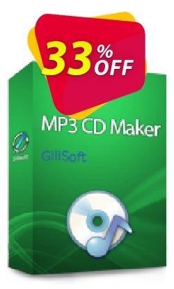 GiliSoft MP3 CD Maker Lifetime Coupon, discount MP3 CD Maker  - 1 PC / Liftetime free update wondrous promo code 2020. Promotion: