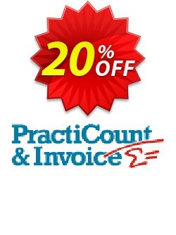 PractiCount and Invoice Enterprise Edition Coupon, discount Coupon code PractiCount and Invoice (Enterprise Edition) - 20% OFF. Promotion: PractiCount and Invoice (Enterprise Edition) - 20% OFF offer from Practiline