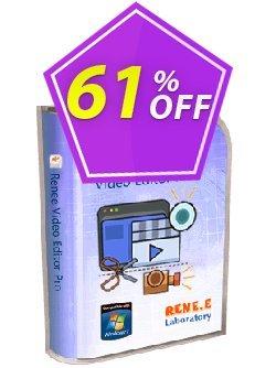 Renee Video Editor Pro Coupon, discount Renee Video Editor Pro - 1 PC LifeTime Best discounts code 2021. Promotion: Best discounts code of Renee Video Editor Pro - 1 PC LifeTime 2021