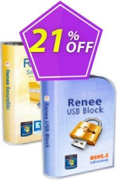 - Bundle Renee USB Block & Renee SecureSilo Coupon, discount [Bundle] Renee USB Block & Renee SecureSilo Stunning discount code 2021. Promotion: Stunning discount code of [Bundle] Renee USB Block & Renee SecureSilo 2021