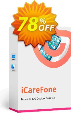 Tenorshare iCareFone Coupon discount 78% OFF Tenorshare iCareFone, verified - Stunning promo code of Tenorshare iCareFone, tested & approved