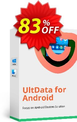 Tenorshare UltData for Android for Mac - Family Pack Coupon, discount Promotion code. Promotion: Offer discount