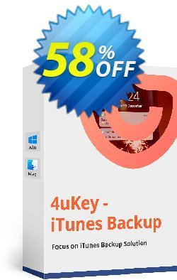 Tenorshare 4uKey - iTunes Backup - Unlimited Coupon, discount discount. Promotion: coupon code
