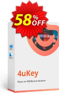 Tenorshare 4uKey for Mac - Unlimited License  Coupon discount 58% OFF Tenorshare 4uKey for Mac (Unlimited License), verified - Stunning promo code of Tenorshare 4uKey for Mac (Unlimited License), tested & approved