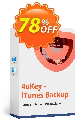 Tenorshare 4uKey - iTunes Backup for Mac - 1 Year Coupon, discount discount. Promotion: coupon code