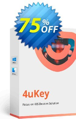 Tenorshare 4uKey - 1 Year Coupon, discount discount. Promotion: coupon code