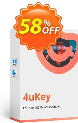 Tenorshare 4uKey - 1 Month Coupon, discount discount. Promotion: coupon code