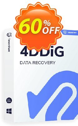 Tenorshare 4DDiG Coupon, discount 60% OFF Tenorshare 4DDiG, verified. Promotion: Stunning promo code of Tenorshare 4DDiG, tested & approved