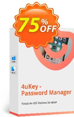 Tenorshare 4uKey Password Manager - 1 Month License  Coupon, discount 74% OFF Tenorshare 4uKey Password Manager (1 Month License), verified. Promotion: Stunning promo code of Tenorshare 4uKey Password Manager (1 Month License), tested & approved