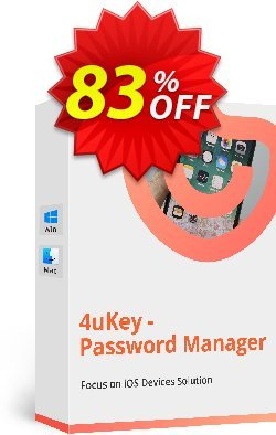 Tenorshare 4uKey Password Manager for MAC - 1 month  Coupon discount 83% OFF Tenorshare 4uKey Password Manager for MAC (1 month), verified - Stunning promo code of Tenorshare 4uKey Password Manager for MAC (1 month), tested & approved
