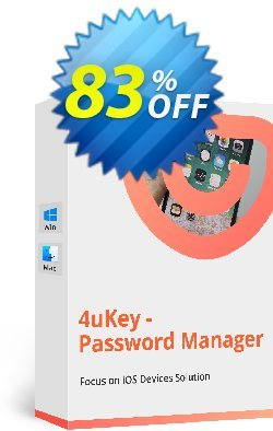Tenorshare 4uKey Password Manager for MAC - 1 year  Coupon discount 83% OFF Tenorshare 4uKey Password Manager for MAC (1 year), verified - Stunning promo code of Tenorshare 4uKey Password Manager for MAC (1 year), tested & approved