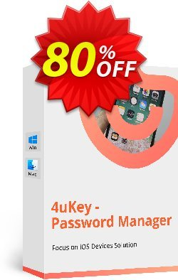 Tenorshare 4uKey Password Manager for MAC - Lifetime  Coupon discount 80% OFF Tenorshare 4uKey Password Manager for MAC (Lifetime), verified - Stunning promo code of Tenorshare 4uKey Password Manager for MAC (Lifetime), tested & approved