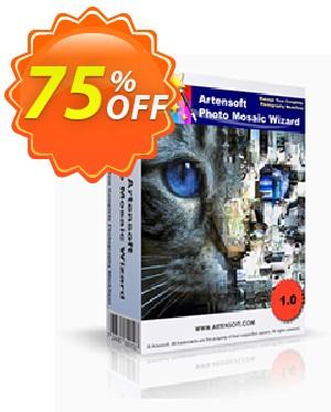 Artensoft Photo Mosaic Wizard-Spanish Coupon, discount ARTENSOFT75EETEW. Promotion: