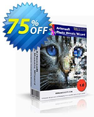 Artensoft Photo Mosaic Wizard-French Coupon, discount ARTENSOFT75EETEW. Promotion: