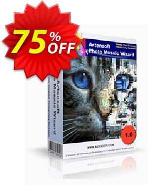 Artensoft Photo Mosaic Wizard-German Coupon, discount ARTENSOFT75EETEW. Promotion: