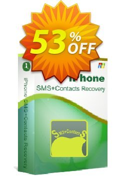 iStonsoft iPhone SMS+Contacts Recovery Coupon, discount 60% off. Promotion: 60% off