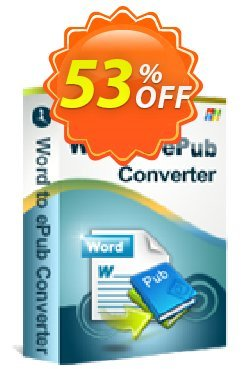 iStonsoft Word to ePub Converter Coupon, discount 60% off. Promotion: