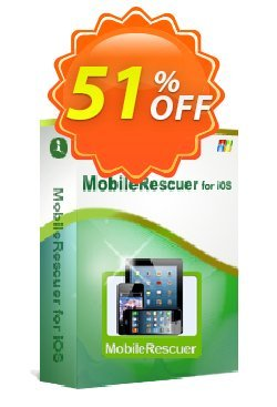 iStonsoft MobileRescuer for iOS Coupon, discount 60% off. Promotion: