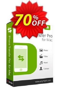 AnyMP4 iPhone Transfer Pro for Mac Lifetime License Coupon discount AnyMP4 coupon (33555) - 50% AnyMP4 promotion