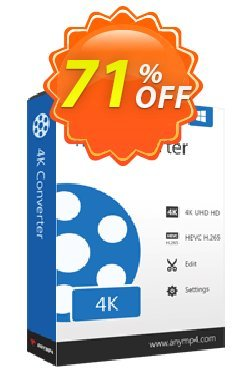 AnyMP4 4K Converter Coupon discount AnyMP4 coupon (33555). Promotion: 50% AnyMP4 promotion