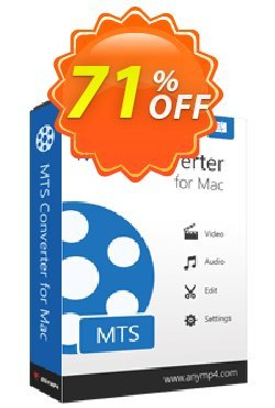 AnyMP4 MTS Converter for Mac Coupon discount AnyMP4 coupon (33555). Promotion:
