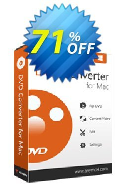 AnyMP4 DVD Converter for Mac Lifetime Coupon discount AnyMP4 coupon (33555) - 50% AnyMP4 promotion
