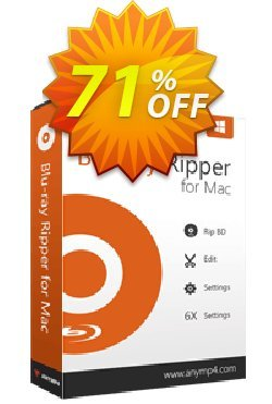 AnyMP4 Blu-ray Ripper for Mac Lifetime Coupon discount AnyMP4 coupon (33555). Promotion: