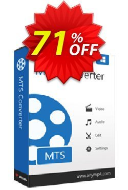 AnyMP4 MTS Converter Coupon discount AnyMP4 coupon (33555). Promotion: 50% AnyMP4 promotion