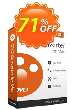 AnyMP4 DVD Converter for Mac Coupon discount AnyMP4 coupon (33555) - 50% AnyMP4 promotion