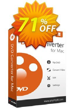 AnyMP4 DVD Converter for Mac Coupon discount AnyMP4 coupon (33555). Promotion: 50% AnyMP4 promotion