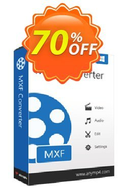 AnyMP4 MXF Converter Coupon discount AnyMP4 coupon (33555) -