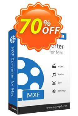 AnyMP4 MXF Converter for Mac - 1-year  Coupon discount AnyMP4 coupon (33555). Promotion: