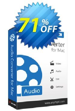 AnyMP4 Audio Converter for Mac Lifetime Coupon discount AnyMP4 coupon (33555) -