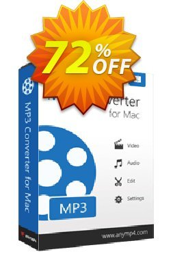 AnyMP4 MP3 Converter for Mac Coupon discount AnyMP4 coupon (33555). Promotion: AnyMP4 MP3 Converter for Mac Lifetime license promotion